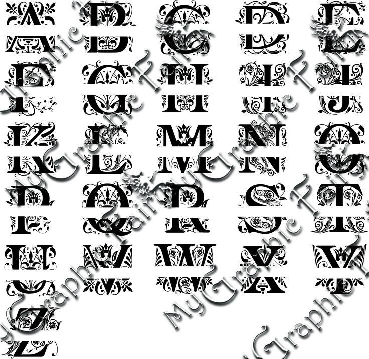 Regal Split Letter Monogram Fonts