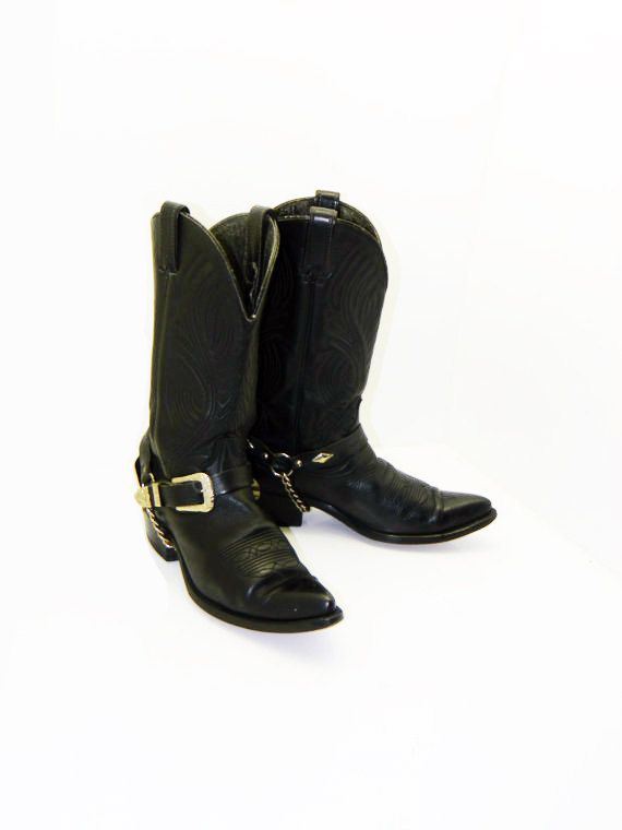 Mens Black Code West size 9 D Cowboy boots with by RubesRelics, $46.35