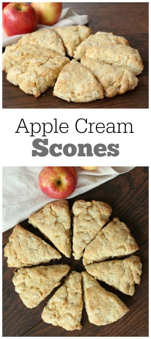 Apple Cream Scones Recipe - from RecipeGirl.com