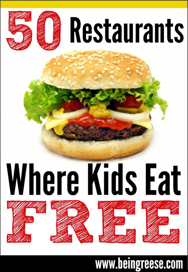 50 Restaurants Where Kids Eat Free
