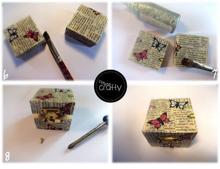 Caja de madera Decoupage