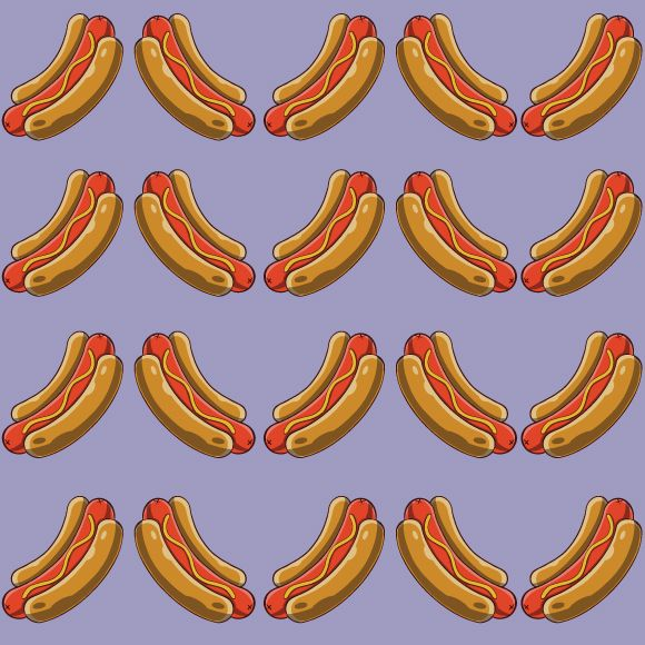 Hot Dog Seamless Vector Pattern Royalty Free Download In 2020 Vector Pattern Free Vector Patterns Hot Dogs