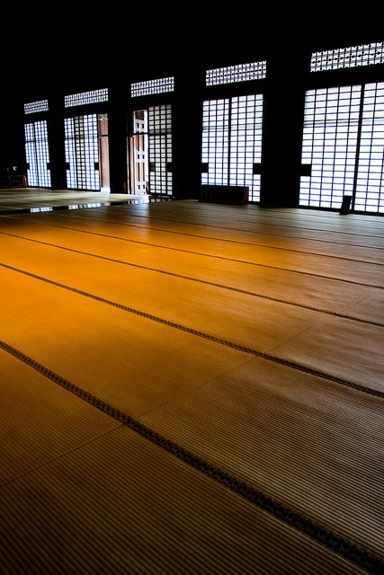 Tatami room of Amida Hall, Nishi Hogan-ji temple, Kyoto, Japan