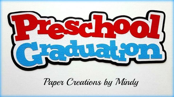 Craftecafe Mindy Preschool Graduation School title premade