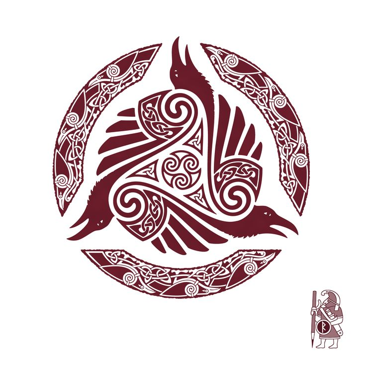 raven 39 s feast ravens and triskele knotwork tattoo design by raidho nice tattoo pinterest. Black Bedroom Furniture Sets. Home Design Ideas