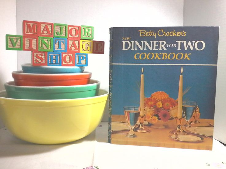 """Betty Crocker's """"Dinner for Two"""" Cookbook by MajorVintageShop on Etsy"""