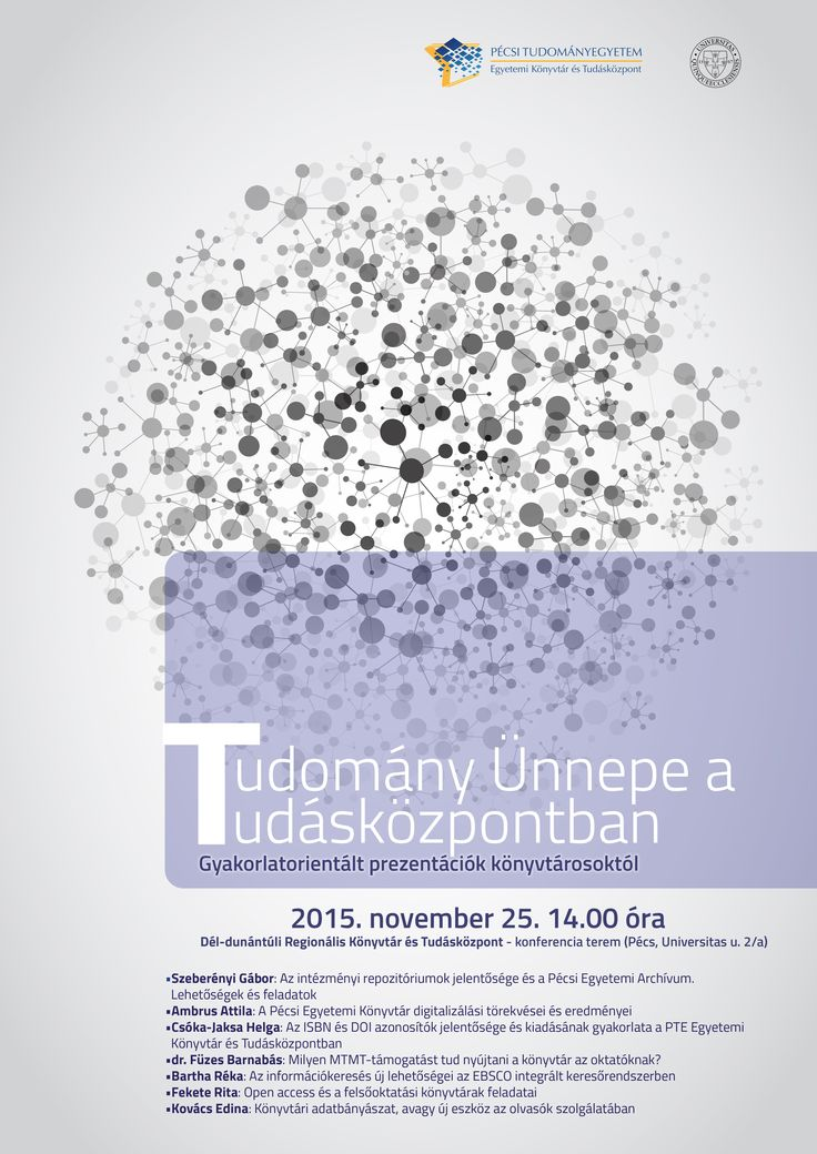 Invitation for an event by the University Library of Pécs and Center for Learning