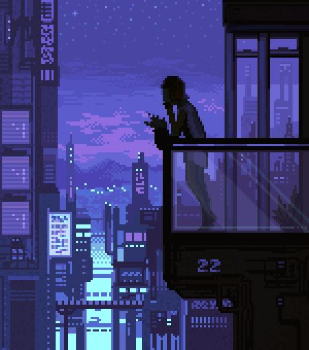 • art landscape cityscape scifi science fiction pixel art pixel cyberpunk bioshock pixel mewr cypulchre •