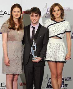 Bonnie Wright, Emma Watson und Daniel Radcliffe