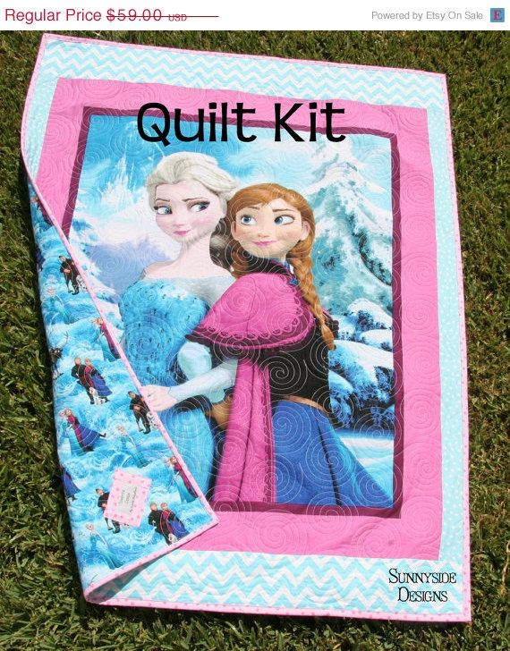 Frozen Quilt Kit Panel Baby Toddler Bedding by SunnysideFabrics