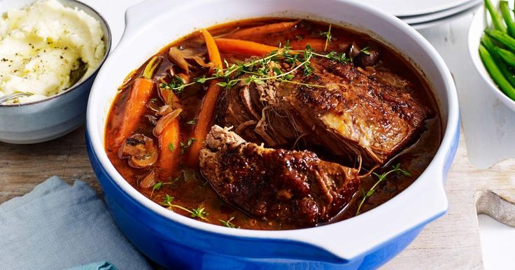 Create a heavenly winter dinner with this tender slow-cooked beef and mushroom pot roast.