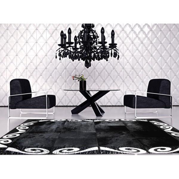 patchwork cowhide rug k-155 art 1 black-silver  ORDER HERE: http://www.furhome.gr/shop/en/patchwork-cowhide-rug-k155-14.html
