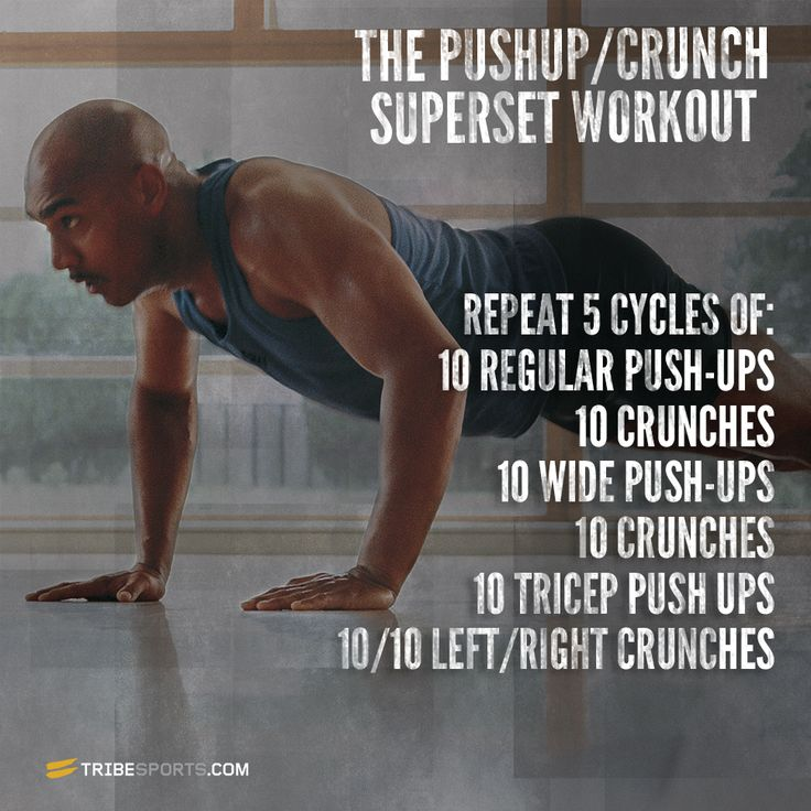 Pushup/Crunch Superset