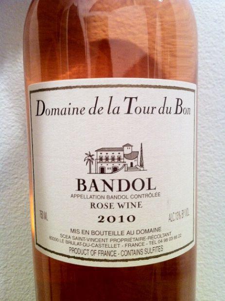 2010 Domaine de la Tour du Bon Bandol Rose