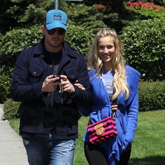 Michael Buble with wife Luisana Lopilato in Canada after honeymoon.