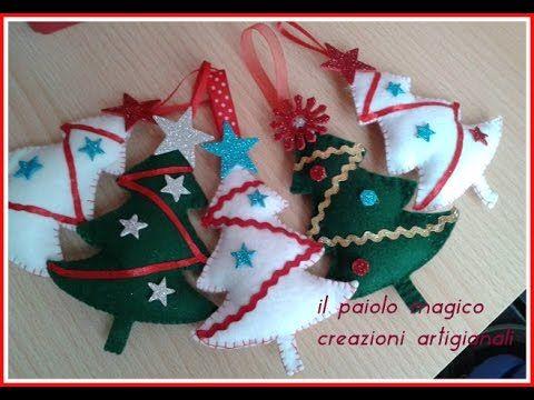 creazioni natalizie e tutorial albero di natale ( cucito creativo )