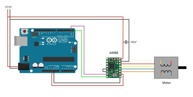 Control a stepper motor using your Arduino for precise direction, speed and rotation angle control. Build a 3D printer or other CNC device.