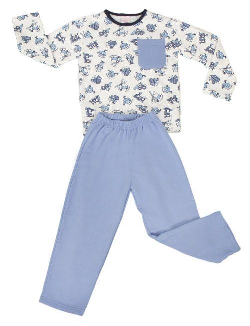 Pijama infantil masculino estampado. Confeccionado em pluminha.