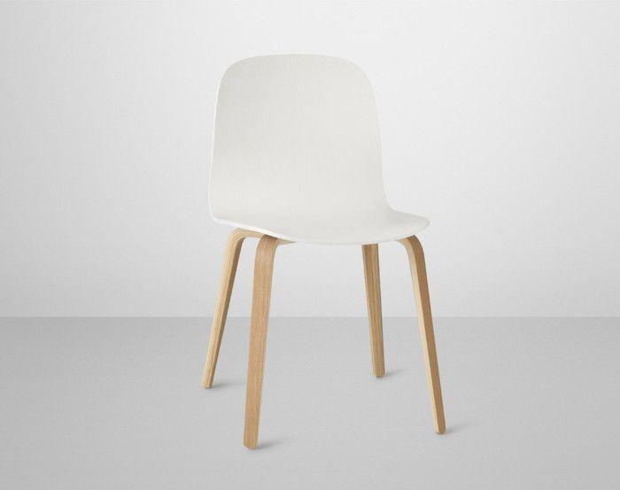 Židle Visu s dřevěnou podnoží