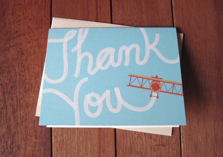 Sky writing thank you  cards