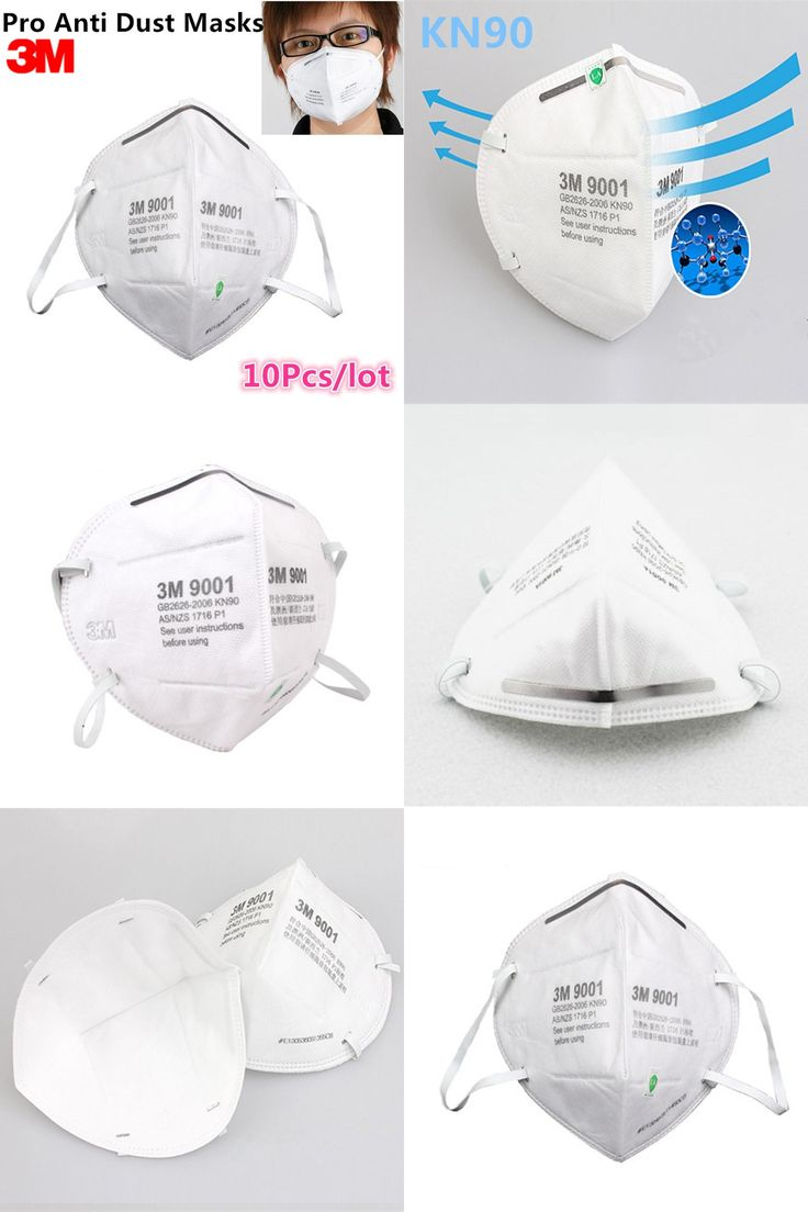 [Visit to Buy] 10Pcs 3M Pro KN90 Anti-dust Masks Anti PM2.5 Industrial Construction Dust Pollen Haze Gas Family and Pro Site Protection Tool #Advertisement