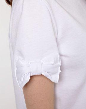 bow Sleeve Tee