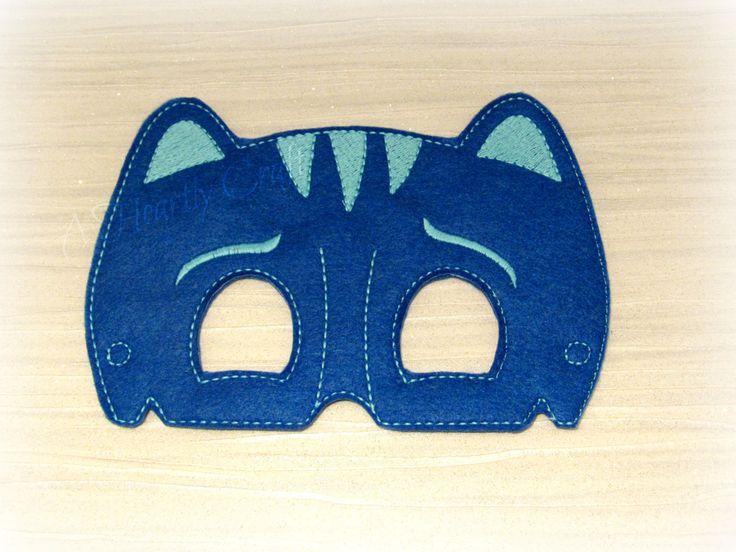 Blue Boy Cat Felt Mask Pretend Play Dress Up Super