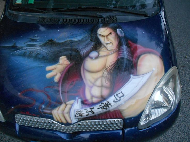 Indian-Samurai in a Car
