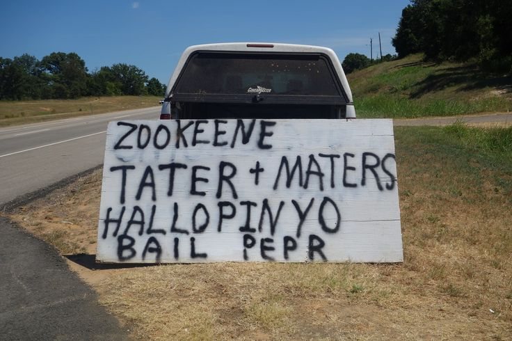 This guy runs a roadside produce stand near me in Texas. His signs have to be seen to be believed.