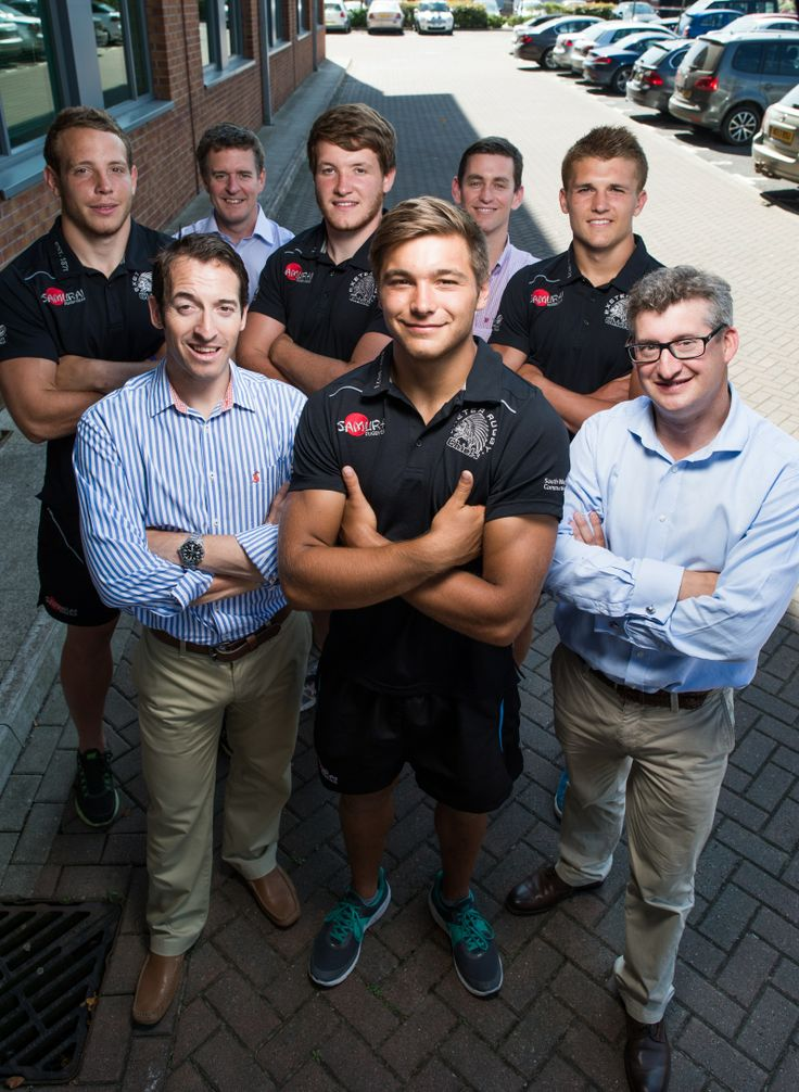 Our Re-engagement team with our sponsored players from the Exeter Chiefs