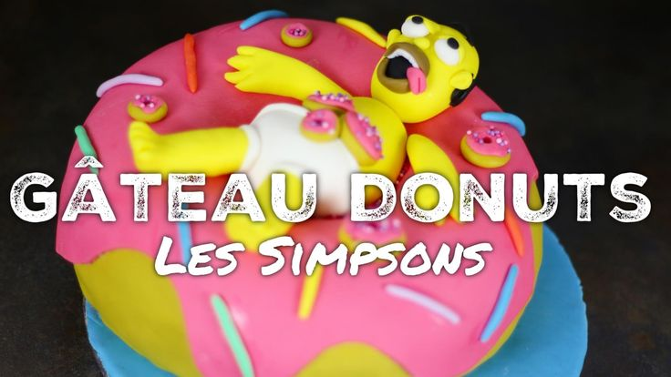 RECETTE GATEAU SIMPSONS DONUTS GEANT HOMER | THE SIMPSONS DONUTS CAKE