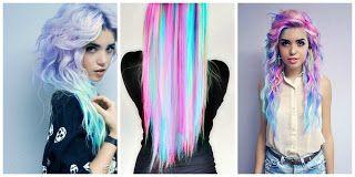 Cabello Arco Iris Pastel 2 #hairstyle #women #fashion #moda #mujeres