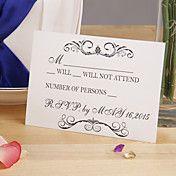 Cartão elegante da resposta Branca - conjunto... – EUR € 5.77