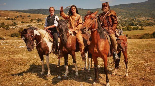 Old Shatterhand, Winnetou und Sam Hawkins in der Neuverfilmung der 'Winnetou'-Trilogie. (Quelle: RTL)
