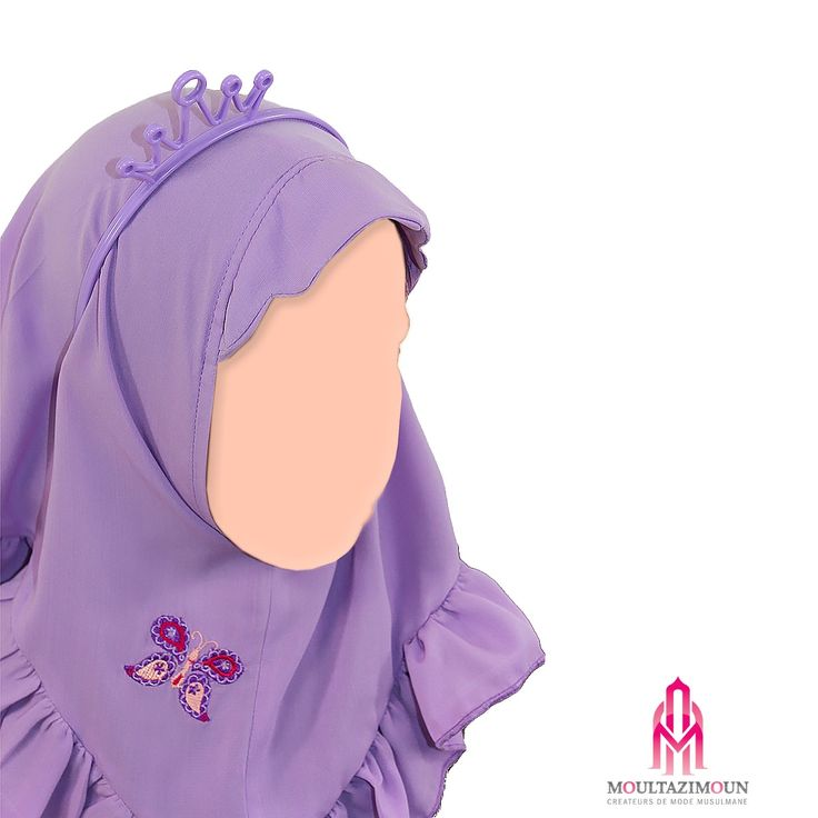 hijab papillon enfant #Boutique #muslim #kids - #girl - #jilbab - #salat…