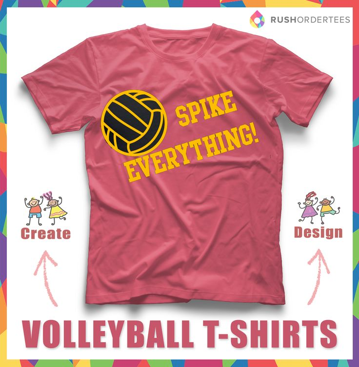 Volleyball Custom T Shirt Design Idea For Your Team! Design And