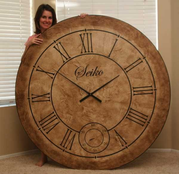 16 best images about giant wall clock on pinterest. Black Bedroom Furniture Sets. Home Design Ideas