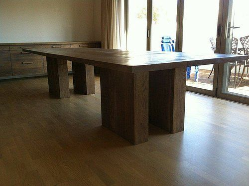 Solid Oak Table and Server
