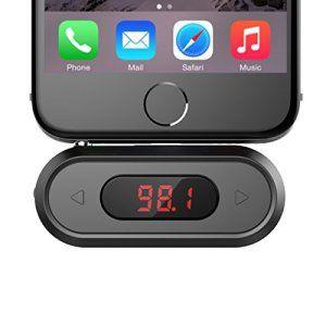 Transmetteur FM, Doosl® Radio Emetteur sans fil de voiture 3,5 mm avec LCD de voiture Adaptateur pour iphone Samsung Galaxy et autre FM…