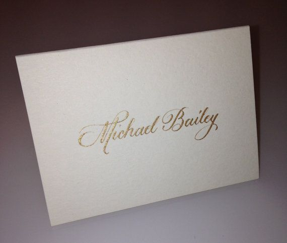 Gold Ink Handwritten Calligraphy Place Cards Escort Cards