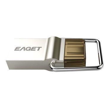 EAGET CU10 Original Type-C USB3.0 OTG Flash Drive 16G 32G 64G Pendrive For Smart Phone Macbook Sale - Banggood.com