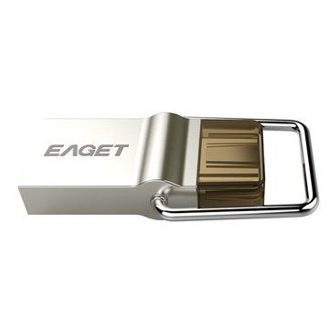 EAGET CU10 Original Type-C USB3.0 OTG Flash Drive 16G 32G 64G Pendrive For Smart Phone Macbook Sale - Banggood.com
