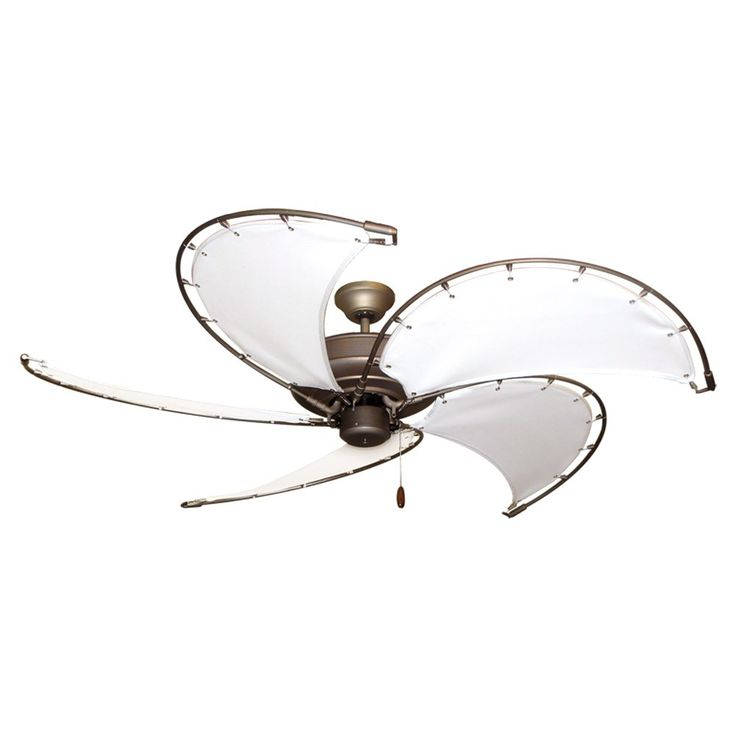 "ceiling fan nautical coastal | 52"" Raindance Nautical Ceiling Fan Ant. Bronze, Sail Blades 4 Finishes"