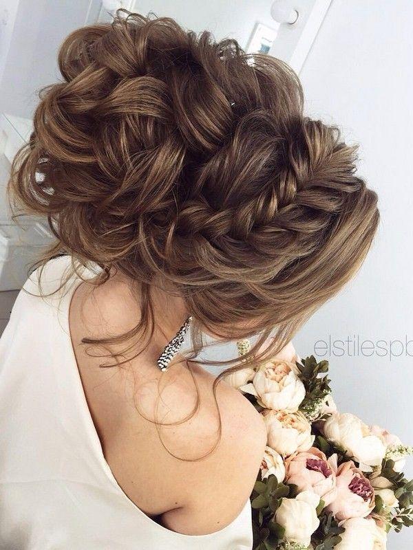 Half-updo, Braids, Chongos Updo Wedding Hairstyles / http://www.deerpearlflowers.com/wedding-hair-updos-for-elegant-brides/5/