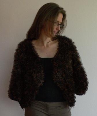 Faux Fur Kiwi Cape  pattern PDF by uniqueboutiqueknits on Etsy, $4.00