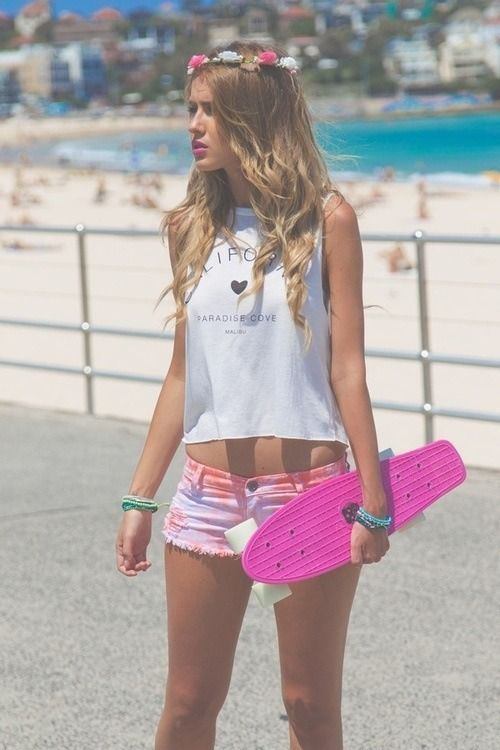 Penny Board Tumblr Clothes Pinterest Summer The Penny And Flower Crowns