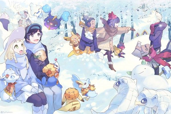 Winter in Alola~ Or maybe they all took a vacation to Sinnoh or Unova