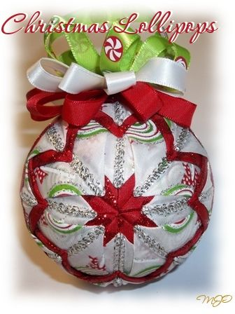 Christmas Lollipops Quilted Ornament-Christmas Lollipops Quilted Christmas Ornament