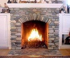 river rock fireplaces                                                                                                                                                                                 More
