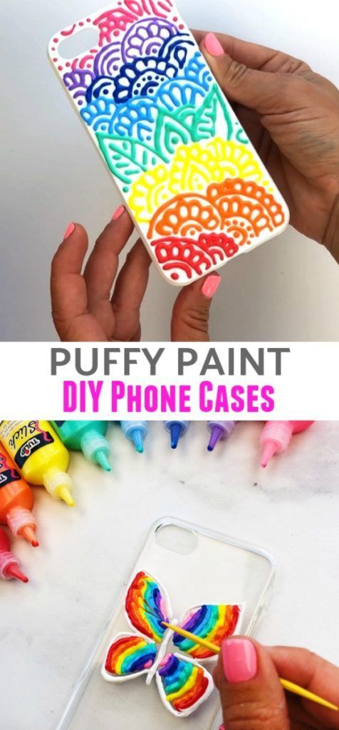 release date bbab5 b47f9 Puffy Paint DIY Phone Cases | CraftProjectIdeas Blog Partners | Diy ...